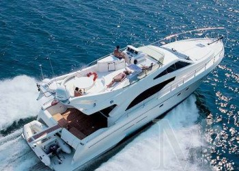 Ferreti 53 Power boatfor hire in Ibiza