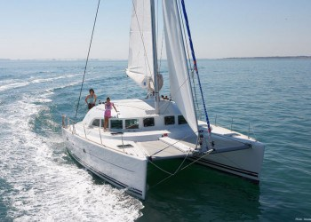 Lagoon 380 Catamaran for rent in Ibiza