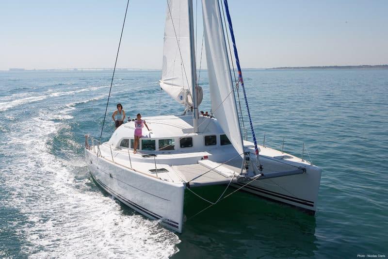 Lagoon 380 Catamaran for rent in Ibiza